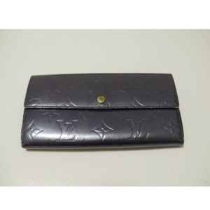 Auth Gorgeous Purple Vernice Louis Vuitton Wallet